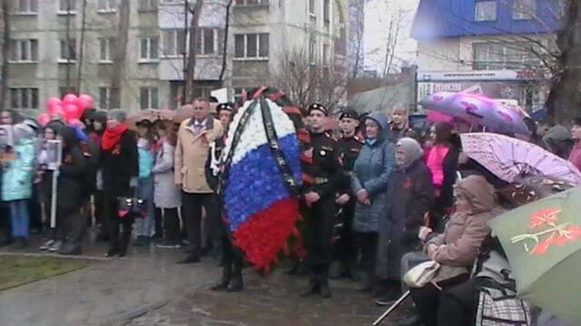 Возложение цветов к памятнику героев фронта и тыла 04.05.2018